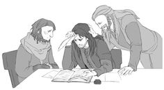 """""""I don't get it."""" """"Neither do I. Fili! Can you help us?"""" """"Sure! Oh, that's an easy one."""" """"No it's not."""" """"Yes it is! Here, I'll show you."""" -Fili"""