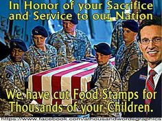 In honor of your sacrifice...