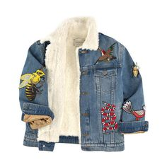 Embroidered jean jacket Gucci (23.833.840 IDR) ❤ liked on Polyvore featuring jackets, denim jacket and outerwear