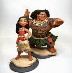 I was the ZBrush artist behind the Moana figure for Disney Infinity. She was the very last character I made while I was at Disney Interactive. she was also my favorite as well. I fought really hard to get her figure to match the attitude of the movie. (What a masterpiece of a movie!) It is a shame she was canceled half way into production.  Unfortunately I will never be able to hold a final figure in my hand... le sigh.... Anyways, I've included a picture of the paint prototype done by th...