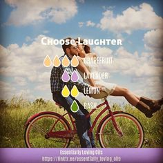 """Choose Laughter - Diffuser Blend . """"It is impossible for you to be angry and laugh at the same time. Anger and laughter are mutually… #EssentialOilBlends"""