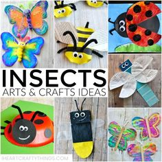 Insects Arts and Crafts Ideas | I Heart Crafty Things