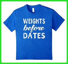 Kids Weights Before Dates Funny Gym Workout Gift Weightlifting T- 6 Royal Blue - Workout shirts (*Amazon Partner-Link)