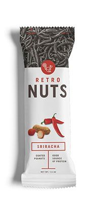 test monki, retro nuts, packaging design, food packaging design, branding, brand identity, graphic design, nuts packaging, Sriracha