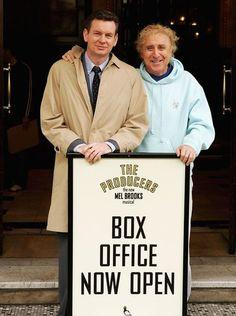 Gene Wilder (right) and John Gordon Sinclair pose on