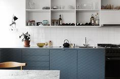 """Quilted"" cabinets in an Alströmer Street home in Stockholm // blackbirdstyle"