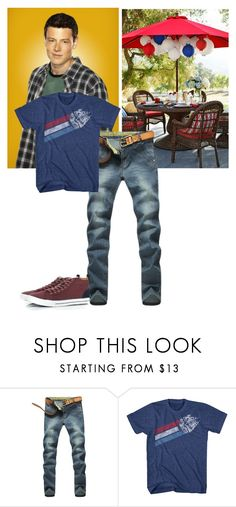 """""""Finn Glee - Behind Closed Doors - Fanfiction 4th of July Set"""" by firewitch23 ❤ liked on Polyvore featuring Hudson Jeans, Topman, men's fashion and menswear"""