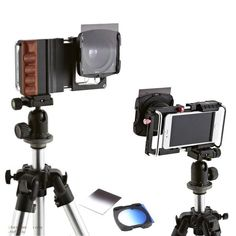 Smartphone Stabilizer Rig w Wide Angle /Macro Lens /ND Filters /Cold Shoe Mount