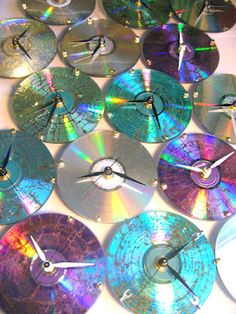 Clocks from old CDs