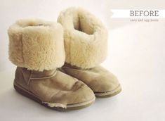 Upcycling Ugg boots – Recover and Fix