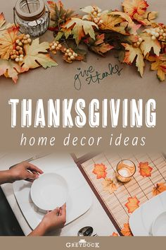 The Only 3 Rooms You Need to Decorate for Thanksgiving   We all know how stressful the weeks leading up to Thanksgiving are with all the planning and entertaining that goes on—so much that sometimes your home's décor takes a backseat to all the hustle and bustle. Think of where your guests will spend the most time: the kitchen, dining room and living room. The entryway is also important especially if you're expecting a lot of first-time visitors. #thanksgivingdecor #thanksgiving