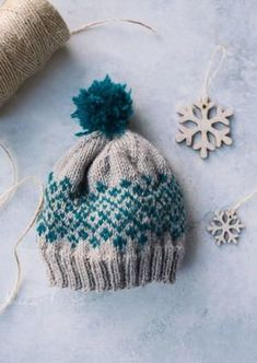 Fair isle knitting doesnt have to be intimidating. In fact, it can be quite fun when its as easy as in this Shetland Baby Knit Hat!