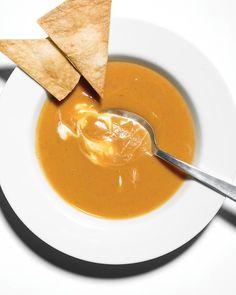Sweet Potato & Chipotle Soup  156 calories, 6.3g protein, 27g carbs, 3.8g protein