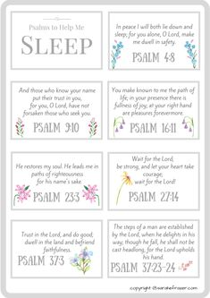 FREE PRINTABLE! Psalms to Help You Fall Asleep - Sarah E. Frazer