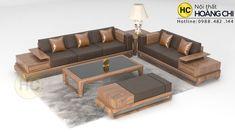 Mẫu Sofa gỗ óc chó Bắc Mỹ- SFG016