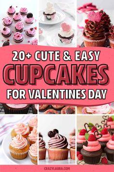 Cupcake Day, Valentine Day Cupcakes, Cupcake Icing, Valentines Baking, Valentine Treats, Strawberry Lemon Cupcakes, Chocolate Cherry Cupcakes, Raspberry Buttercream Frosting, Chocolate Buttercream Icing