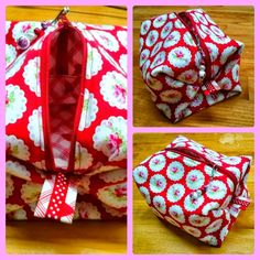 Valentine Boxy Pouch in Valentine Rose by Tanya Whalen for Free Spirit