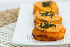 Sweet Potato Stacks with Crispy Sage Leaves | Oh My Veggies
