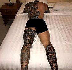 Who Else Wants to Learn About 42 Superb Sleeve Tattoos for Men? Star tattoos are among the most dazzling tattoo designs. If you would like to find an inspiring and symbolic white tattoo then search for an experienced tattoo artist. Dope Tattoos, Full Leg Tattoos, Bild Tattoos, Badass Tattoos, Body Art Tattoos, Tattoos For Guys, Tattoo Art, Tattos, Leg Sleeve Tattoo