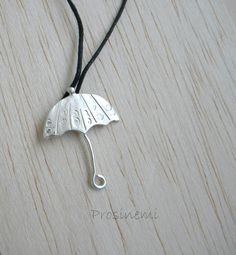 Umbrella pendant  rainy day neclace first rain autumn by prosinemi, €27.00