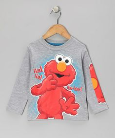 Take a look at this Gray Elmo 'Hee-Hee!' Tee - Toddler by Sesame Street on #zulily today!