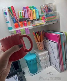 33 amazing diy home decor dollar store ideas 2 - 33 amazing di Study Room Decor, Cute Room Decor, Study Rooms, Study Areas, Home Office Organization, Home Office Decor, Organizing, School Organisation, Organisation Ideas