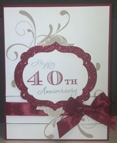 Ruby Anniversary Eleanor Card by zipperc98 - Cards and Paper Crafts at Splitcoaststampers