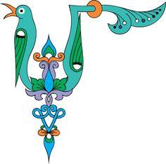 Armenian M bird letter