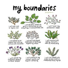 """ᴍᴀᴛɪʟᴅᴀ on Instagram: """"by popular demand, i redrew one of my older posts, all about boundaries. i even added some more because i have expanded my own boundaries…"""""""