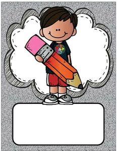 Classroom Labels, Classroom Decor, School Binder Covers, School Border, Kindergarten, School Frame, School Clipart, Kids Education, Pre School
