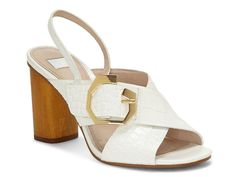 White slingback sandals for wedding - Louise et Cie Karna sandal in white, $110, DSW - Check out more summer sandals on WeddingWire!
