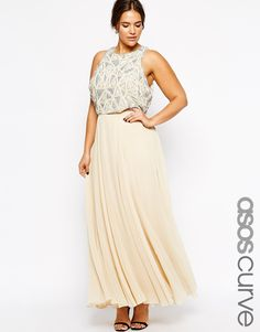 ASOS CURVE Maxi Dress With Embellished Top