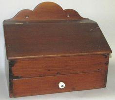 Walnut salt box.   Sold  Ebay   250.00