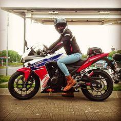 幸夏 (@biker_girl_1) Instagram photo 2016-05-16 17:59:46 #バイク女子 #ツーリング #CBR400R