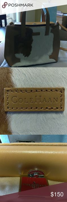 Cole Haan Authentic purse & shoes Cole Haan Cow skin vintage perfect condition Cole Haan Bags Satchels