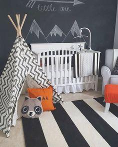 Decoração de quarto de criança com tema floresta