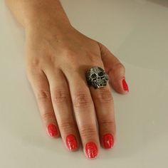 Anel de Caveira pra quem tem muito estilo! #rock #ring