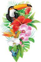 53 Ideas For Bird Wallpaper Art Illustrations Tropical Art, Tropical Flowers, Tropical Nursery, Hawaiian Flowers, Bird Wallpaper, Deco Floral, Fabric Painting, Bird Art, Flower Art
