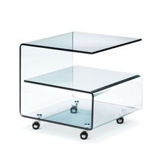 Could be used for media stand. G Profile Side Table   dotandbo.com