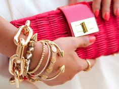 coral + gold