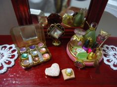 miniature make up set and perfumes for ladies by MINISSU on Etsy, $7.99