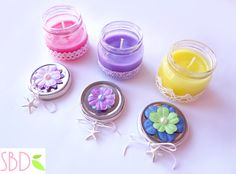 Sweet Bio design: Candele profumate fatte in casa (no cera) - Scented candles home-made (no wax)