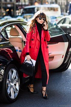 Miroslava Duma - SS16 Paris Fashionweek Day 2 / Street Style #streetstyle #fashion #streetfashion