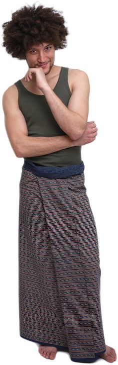 Lungi/Sarong Ufash. Ufash lungi/sarong. Mots-clés : Jupe pour homme, Jupe masculine.