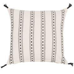 Cojín borlas 45x 45cm 30x50cm geométrica Beige Funda de almohada plaza hecha a mano decoración del hogar para sala de estar sitio de la cama con