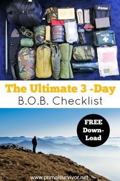 The Ultimate 3-Day Bug Out Bag Checklist
