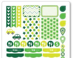 Una hoja de 6,5 x 8.5 de pegatinas cortados y listos para su uso en su planificador de la vida de Erin Condren, Filofax, papel de ciruela, etc.!  © Kimberly Grisham (plannerpenny.com)