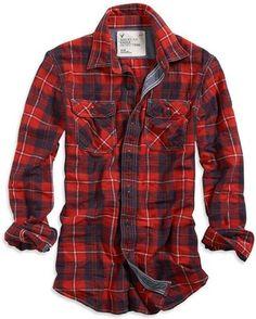 American Eagle Eagle Flannel Shirt ShopStyle - Eagle Shirt - Ideas of Eagle Shirt Shirt - ShopStyle: Eagle Flannel Shirt Flannel Shirt Outfit, Flannel Outfits, Mens Flannel Shirt, Cool Outfits, Tartan Shirt, Red Flannel, Red Shirt, Blue Plaid, Navy Blue