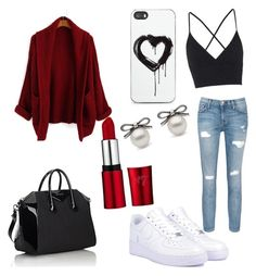 """""""Untitled #8"""" by ed15follow ❤ liked on Polyvore featuring Current/Elliott, Topshop, NIKE, Givenchy and Zero Gravity"""