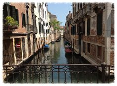 One of the many canals in beautiful Venice